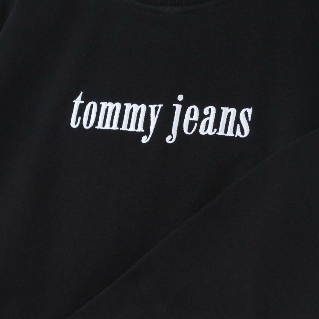타미진스(TOMMY JEANS) [여성] 면혼방 베이직 로고자수 맨투맨 티셔츠 T31J6TTO021WT2 BBU
