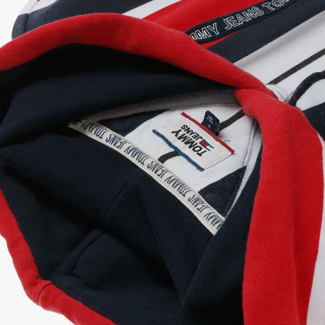 타미진스(TOMMY JEANS) [남성] 코튼 루즈핏 스트라이프 맨투맨 티셔츠 T31J6TTO031MT1 R57