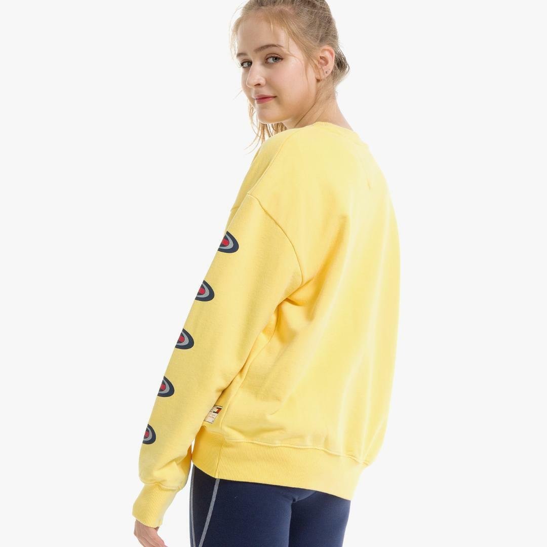 타미진스(TOMMY JEANS) [HERITAGE CAPSULE] [여성] 코튼 로고 크루넥 맨투맨 티셔츠 T31J6TTO097WT1 ZBI