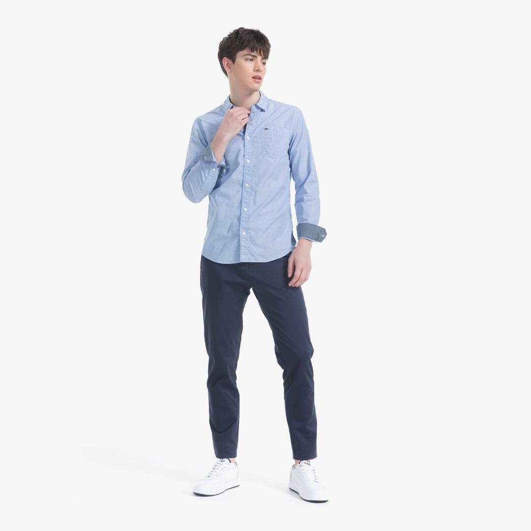 타미진스(TOMMY JEANS) [남성] 코튼 레귤러핏 솔리드 셔츠 T31J6WSH008MT5 SB