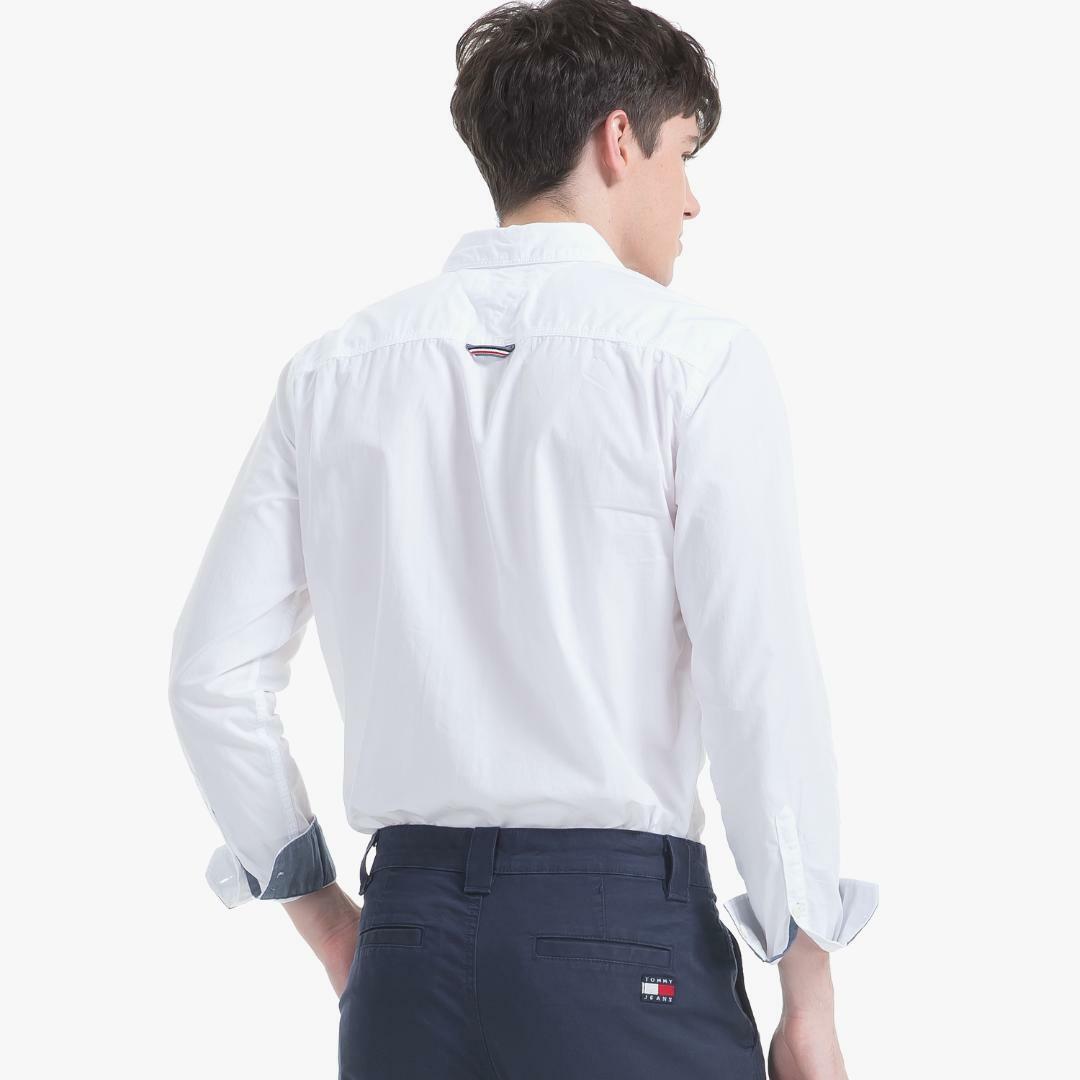 타미진스(TOMMY JEANS) [남성] 코튼 레귤러핏 솔리드 셔츠 T31J6WSH008MT5 WT