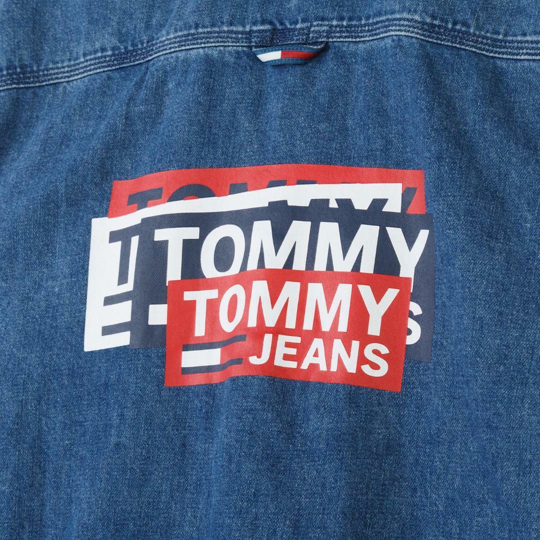 타미진스(TOMMY JEANS) [남성] 데님 워싱 프린팅 셔츠 T31J6WSH034MT2 D10