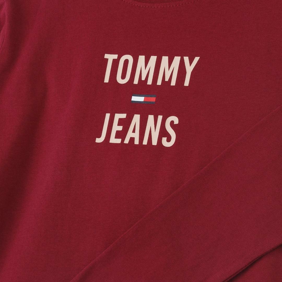 타미진스(TOMMY JEANS) [여성] 코튼 로고 긴소매 티셔츠 T31J7TTO024WT2 VG5