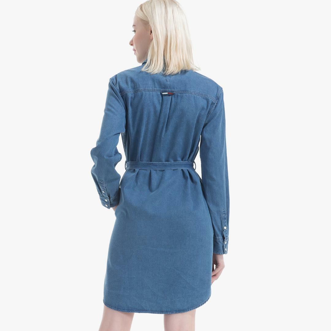 타미진스(TOMMY JEANS) [여성] 데님 워싱 셔츠 드레스 T31J7WOP040WT2 412