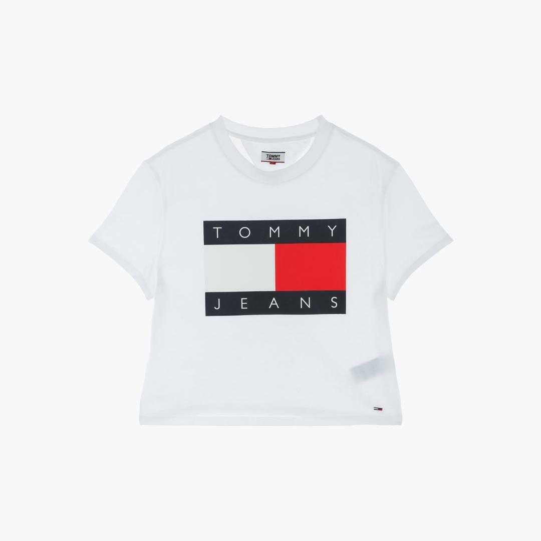 타미진스(TOMMY JEANS) [여성] 코튼 플래그 반소매 티셔츠 T32A1TTO050WT1 YA2