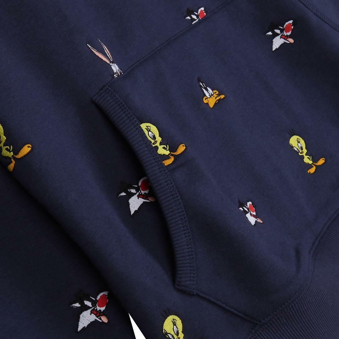 타미진스(TOMMY JEANS) [Looney Tunes Capsule] [남성] 루니튠즈 자수 후드 티셔츠 T32A1TTO076MT1 DW7