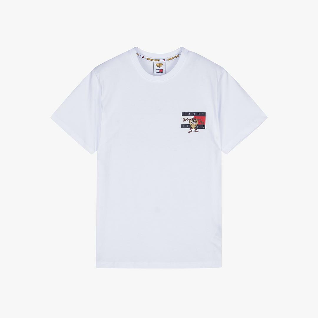 타미진스(TOMMY JEANS) [Looney Tunes Capsule] [여성] 면 루니튠즈 플래그 반소매 티셔츠 T32A1TTO077WT1 YBR