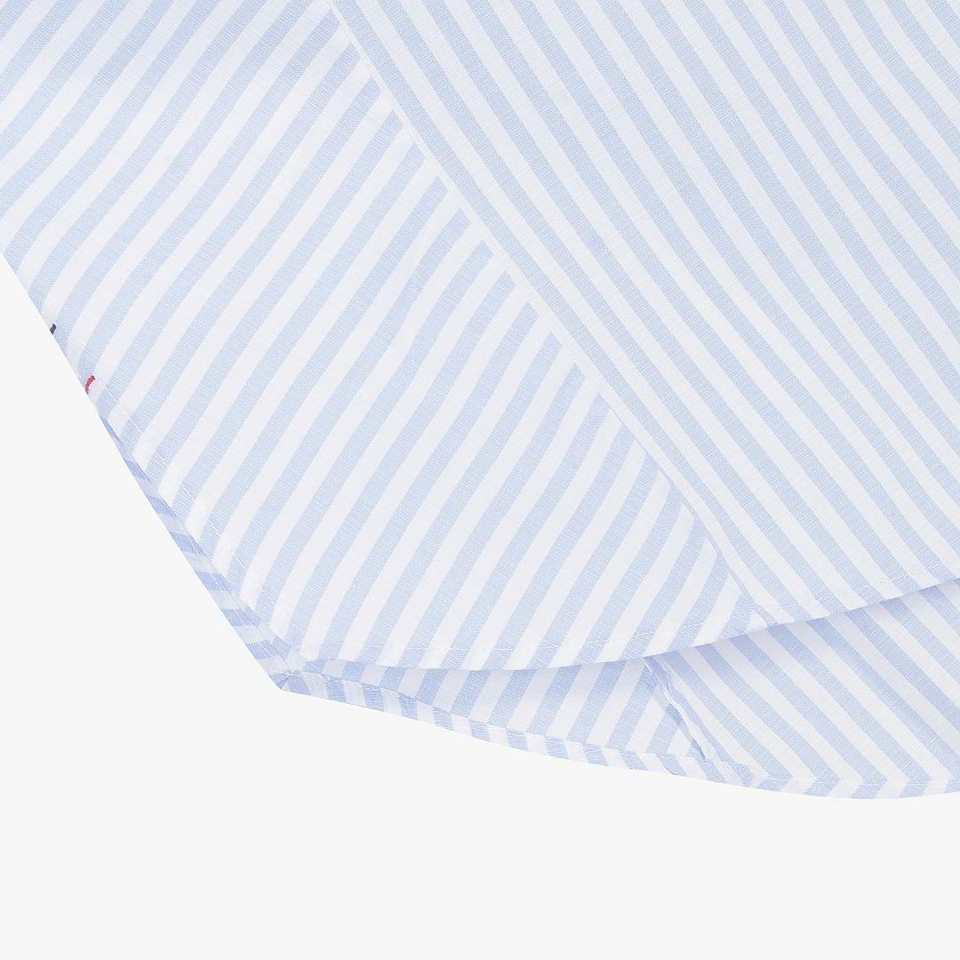 타미진스(TOMMY JEANS) [여성] 폴리 혼방 오버핏 스트라이프 셔츠 T32A6WSH045WT2 0X3