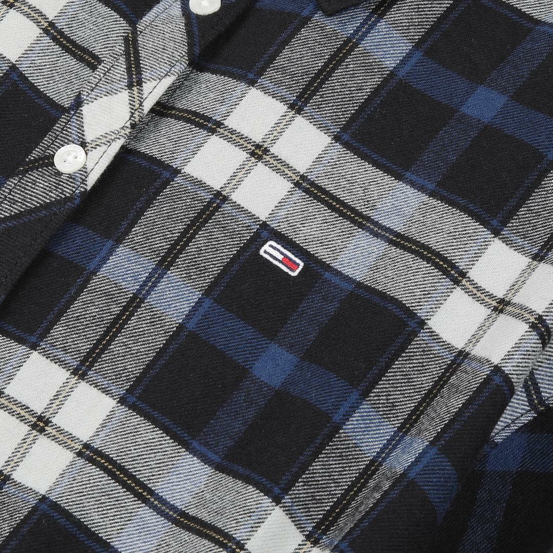 타미진스(TOMMY JEANS) 코튼 레귤러핏 타탄체크 셔츠 원피스 T32A7WOP057WT2 0MD