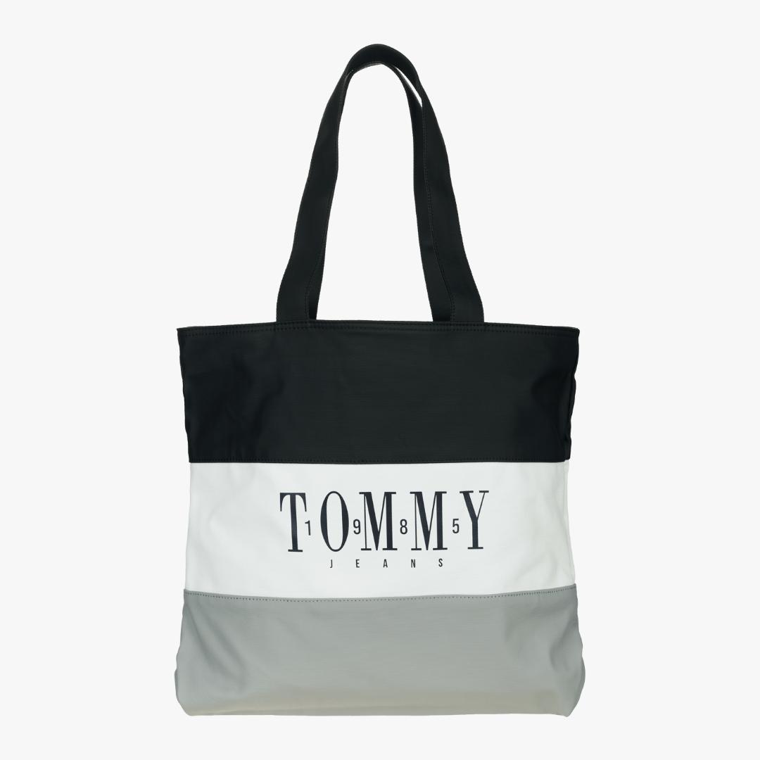 타미진스(TOMMY JEANS) [남성] 코튼 스퀘어 컬러블록 로고 캔버스백 TJMT1AAE43D0 N49