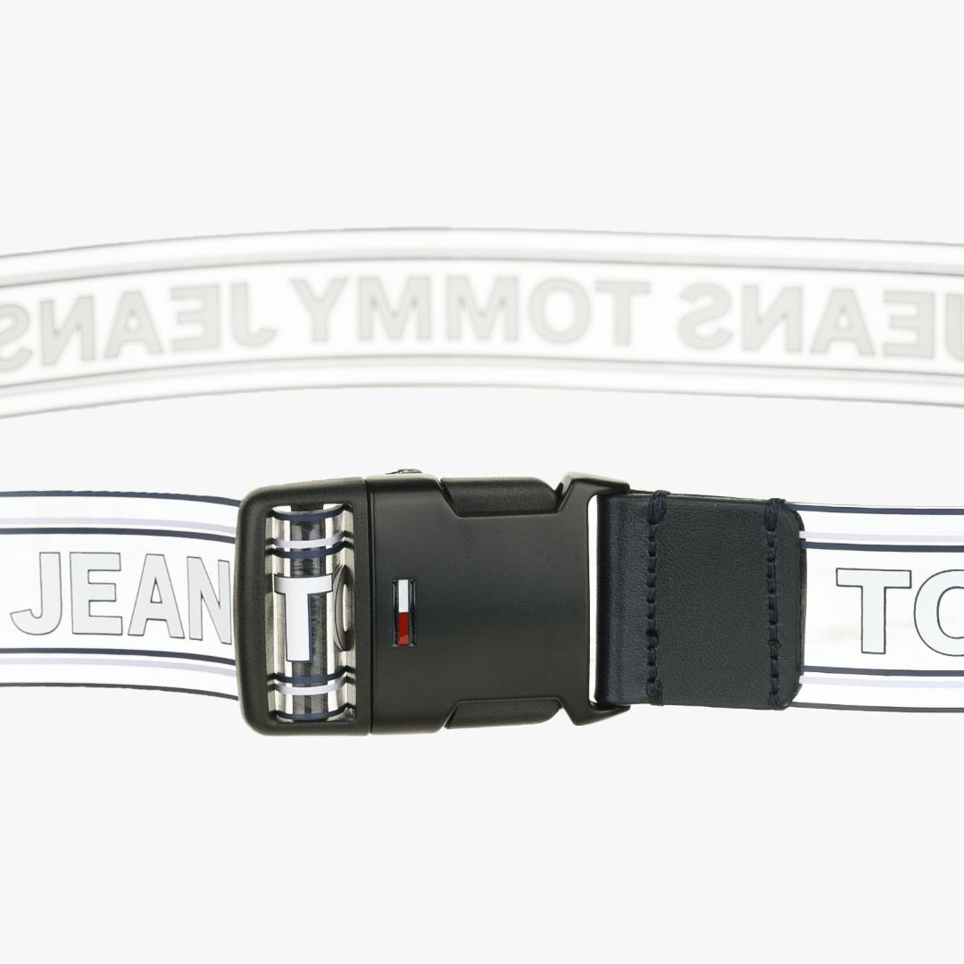 타미진스(TOMMY JEANS) [공용] 폴리 투명 로고 클립 벨트 TJMT1ABE41U0 B79