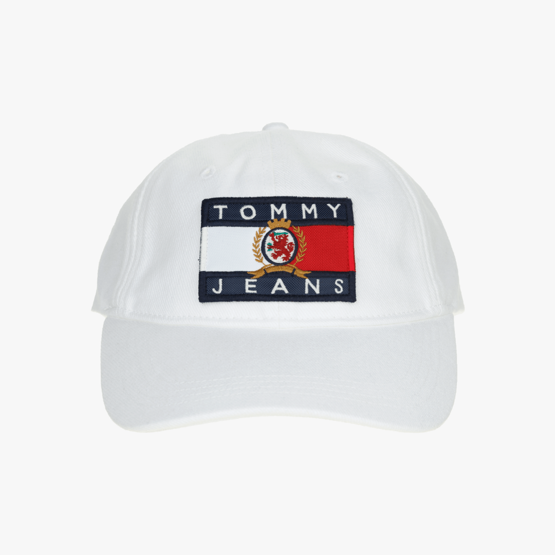 타미진스(TOMMY JEANS) [Crest Capsule] [공용] 코튼 크레스트 플래그 캡 TJMT1AHE92A0 W10