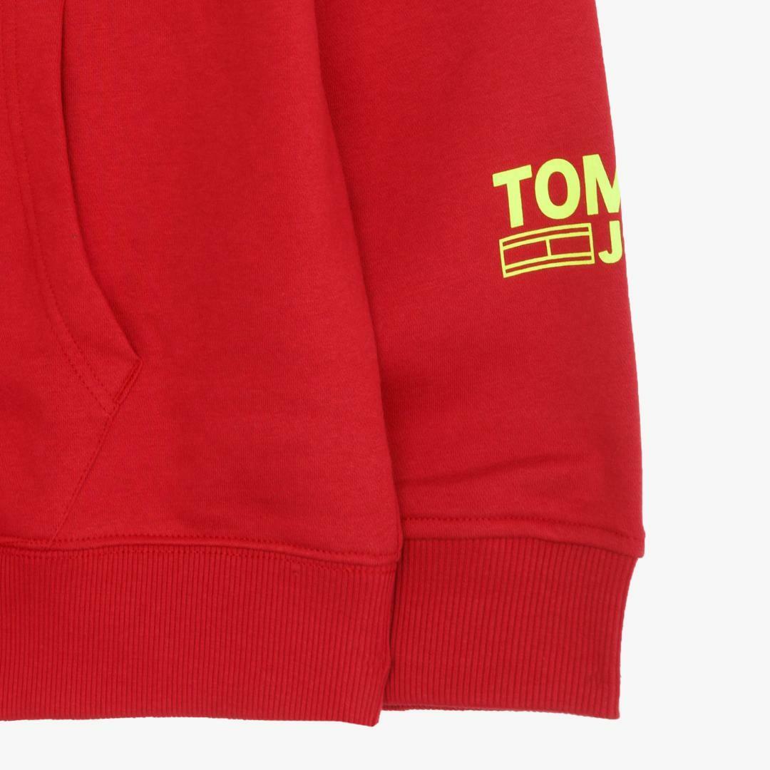 타미진스(TOMMY JEANS) [남성] 면혼방 로고 긴소매 후드 티셔츠 TJMT1KOE34A0 R60