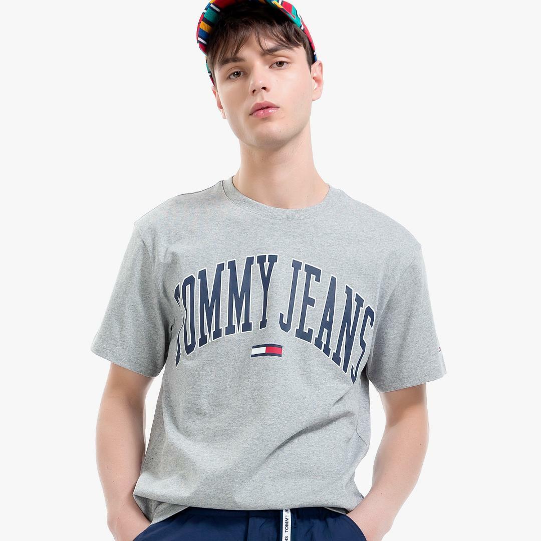 타미진스(TOMMY JEANS) [공용] 코튼 로고 반소매 티셔츠 TJMT1KOE42U0 N36