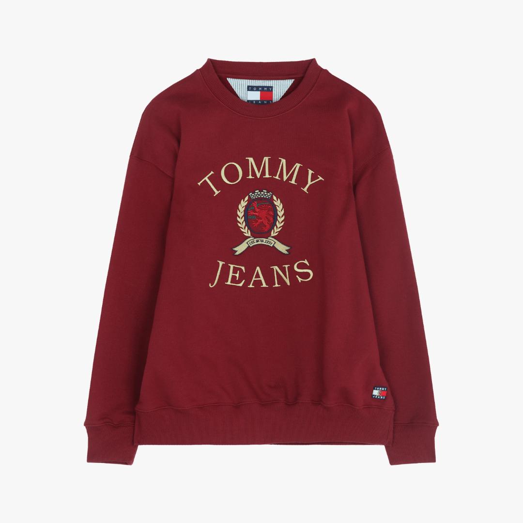 타미진스(TOMMY JEANS) [Crest Capsule] [남성] 코튼 크레스트 크루넥 티셔츠 TJMT1KOE93A0 R70