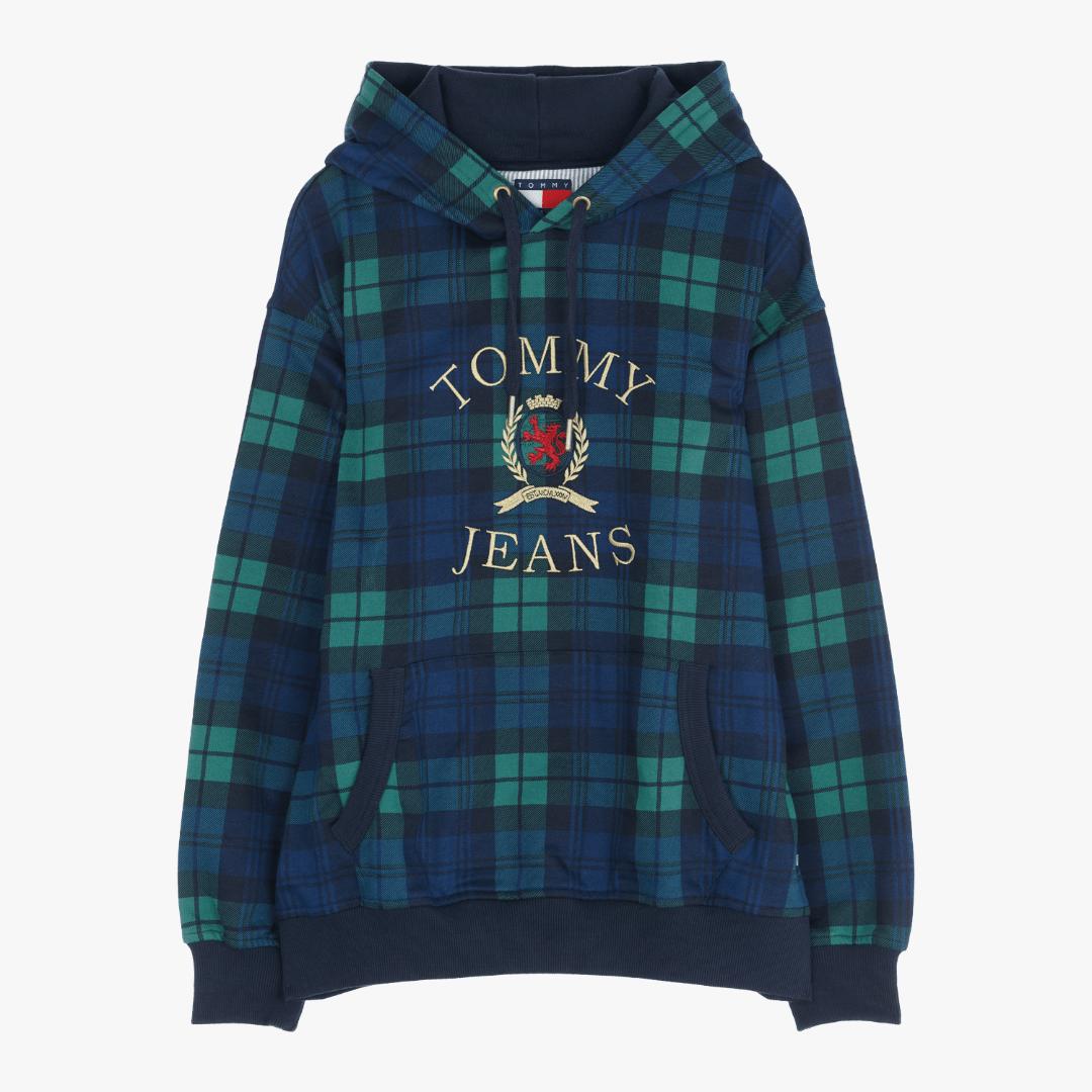타미진스(TOMMY JEANS) [Crest Capsule] [남성] 코튼 체크 크레스트 긴소매 후드 티셔츠 TJMT1KOE95A0 G68