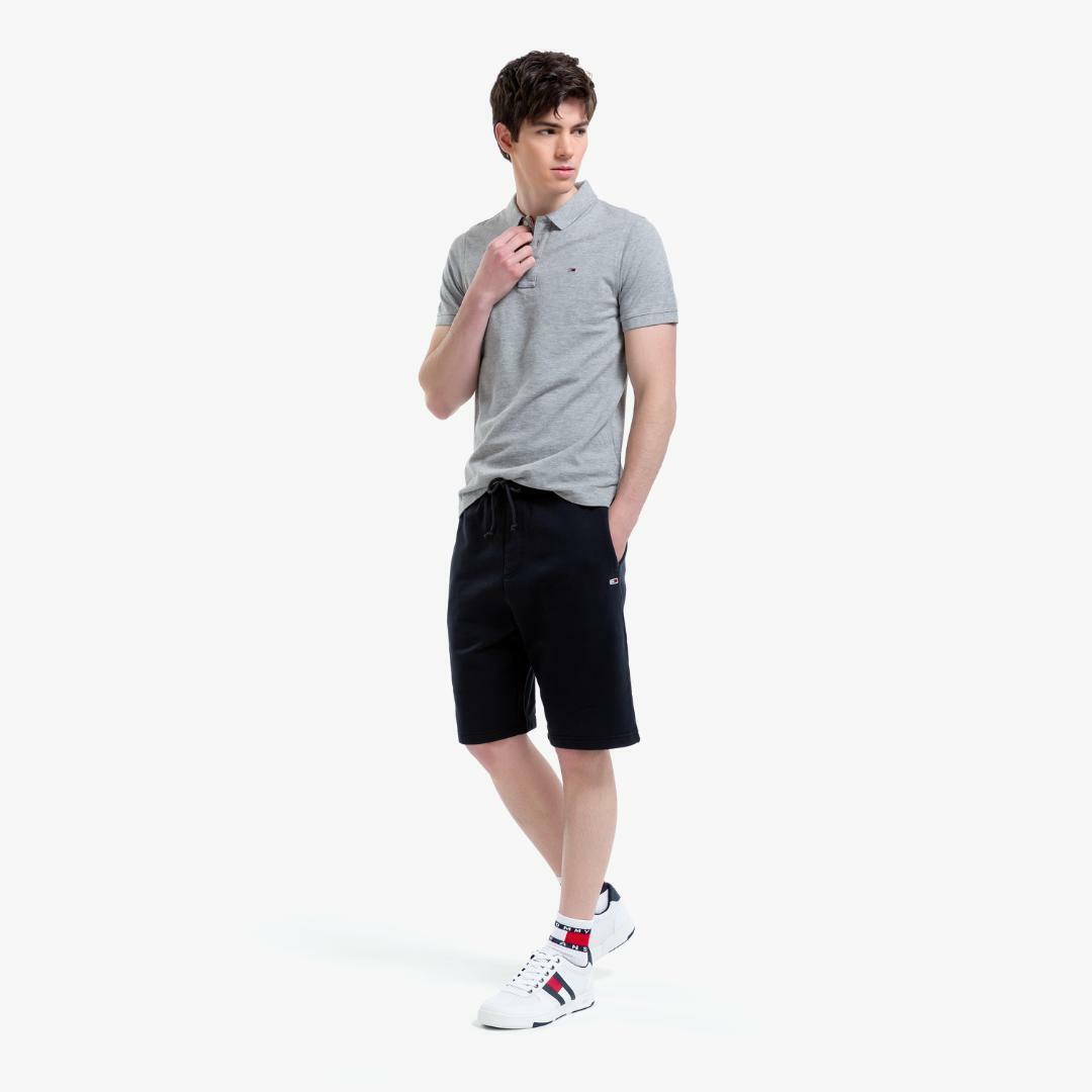 타미진스(TOMMY JEANS) [남성] 코튼 슬림핏 폴로 티셔츠-Light Grey Htr TJMT1KTE01D0 N36