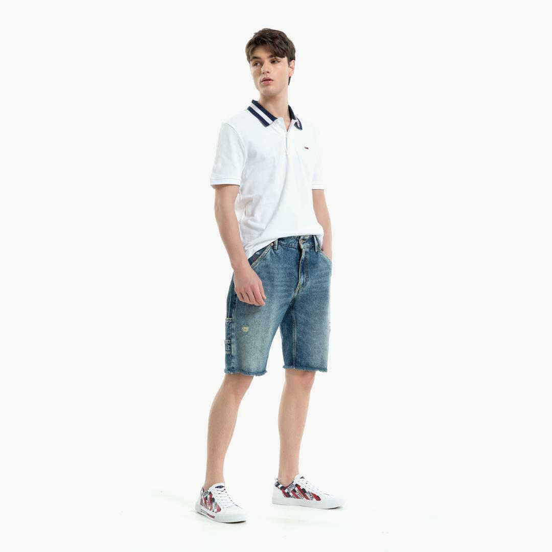 타미 진(TOMMY JEANS) [남성] 코튼 로고 폴로 티셔츠 TJMT2KTE60D0 N00