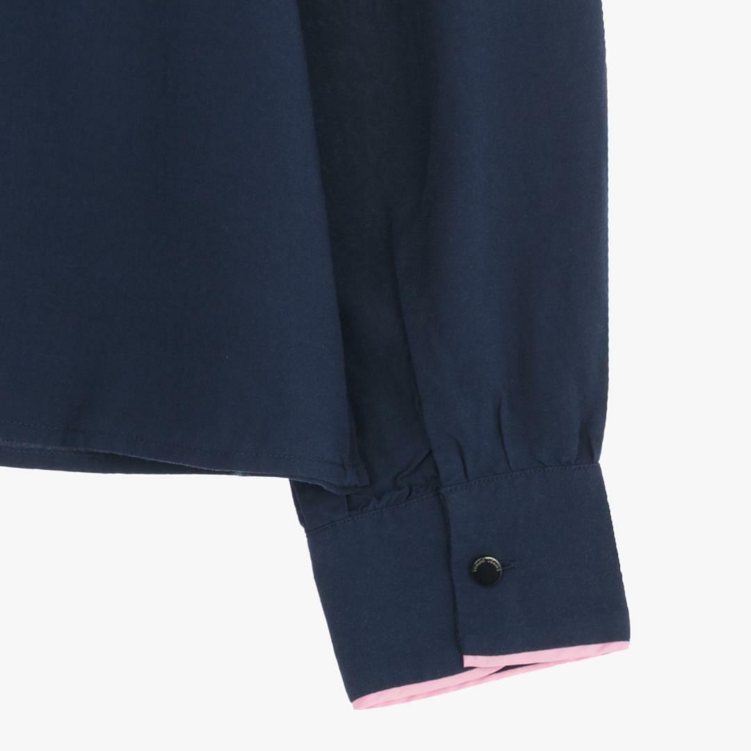 타미진스(TOMMY JEANS) [여성] 레이온 컬러배색 오픈카라 블라우스 TUMT1HCE36A0 B70