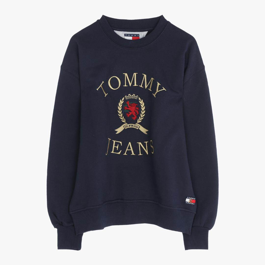타미진스(TOMMY JEANS) [Crest Capsule] [여성] 코튼 크레스트 크루넥 티셔츠 TUMT1KOE93A0 B60
