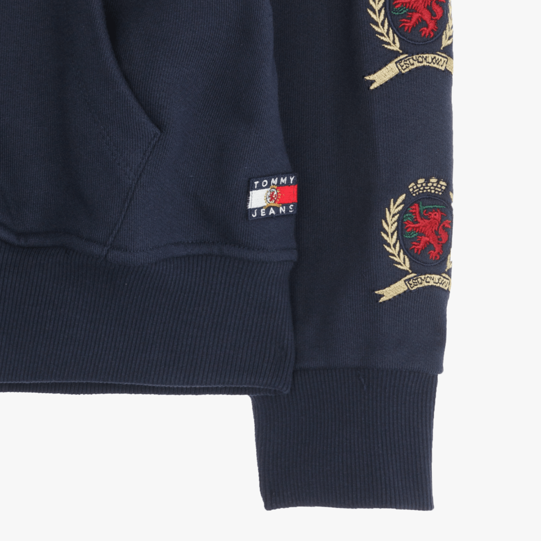 타미진스(TOMMY JEANS) [Crest Capsule] [여성] 코튼 크레스트 긴소매 후드 티셔츠 TUMT1KOE94A0 B60
