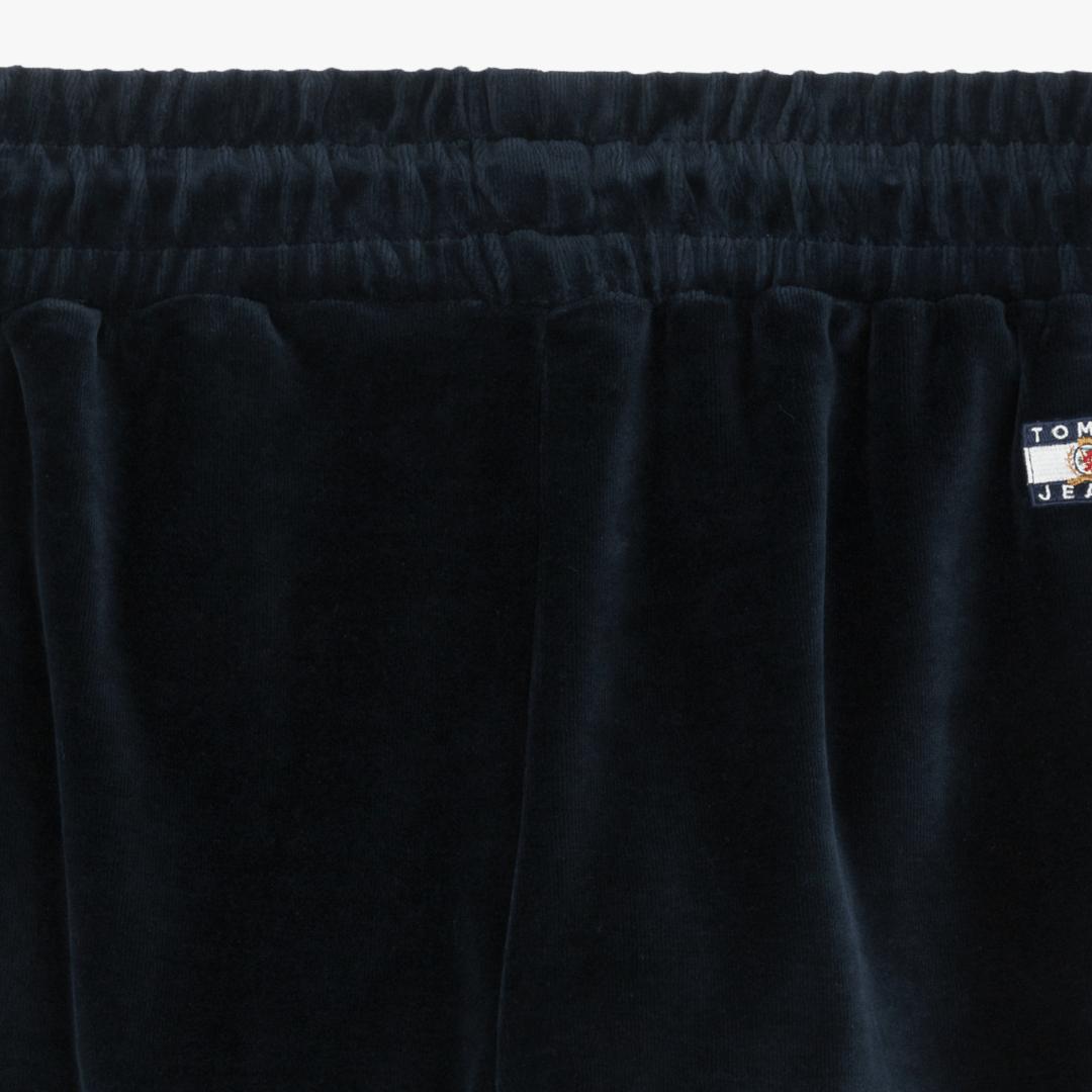 타미진스(TOMMY JEANS) [Crest Capsule] [여성] 면혼방 벨벳 크레스트 롱 스웨트 팬츠 TUMT1PPE95A0 B60