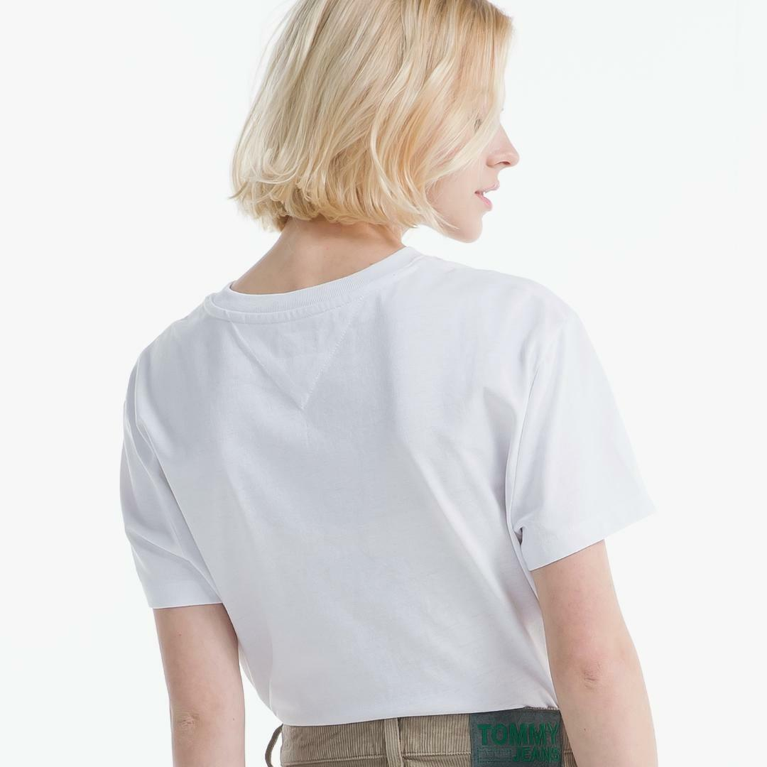 타미진스(TOMMY JEANS) [여성] 오가닉 코튼 뱃지 티셔츠 T32A0TTO030WT1 100
